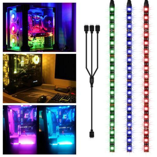 3pcs RGB Gaming Computer DIY