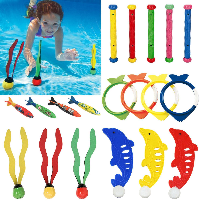 3 4 5pcs diving rings sticks swimming
