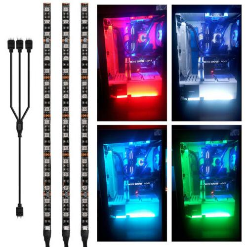2pcs 3pcs rgb pc case gaming led