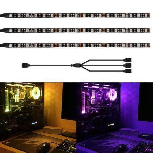 2 3pcs rgb gaming led strip lights