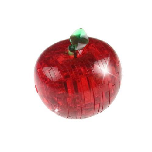 41pcs 3D Crystal Puzzle Red Apple Miniature Assembly Decorat