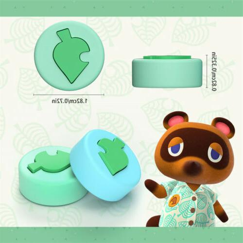 4Pc For Nintendo Accessories Leaf Silicone Thumb Caps