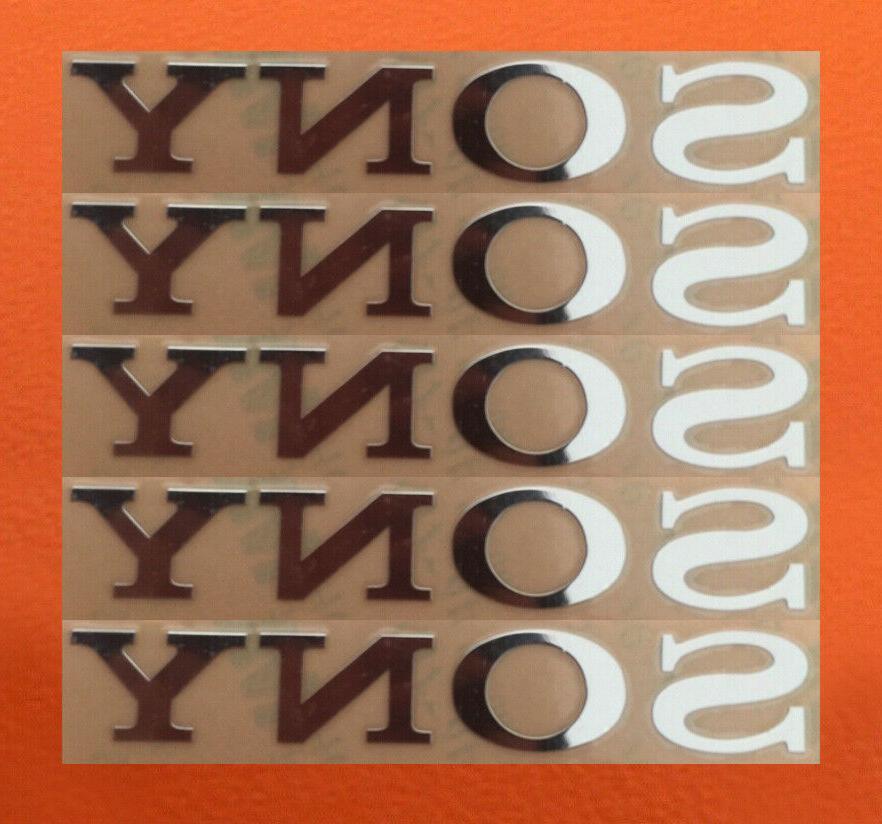 5 pcs sony sticker silver logo tv