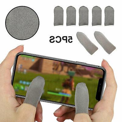 5pcs screen pubg gaming finger sleeve game