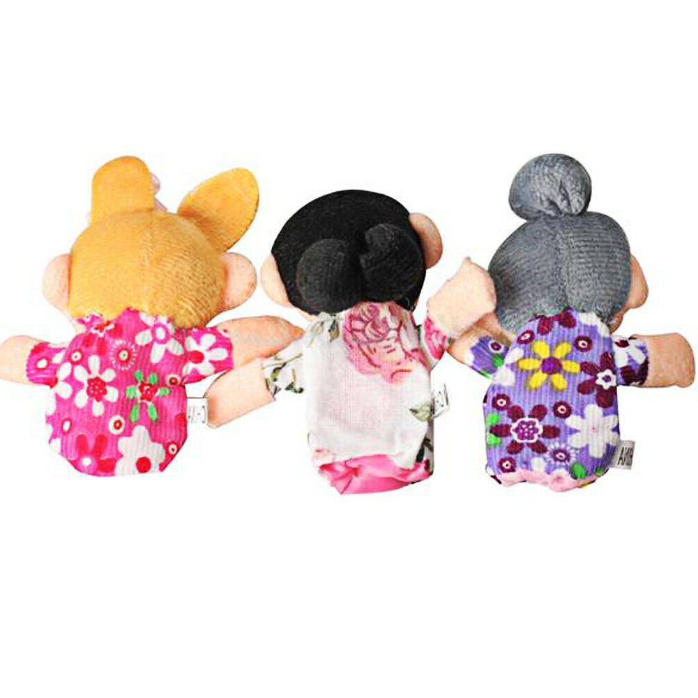 6pcs Kids Cloth Play Game Story Finger Puppets Toys