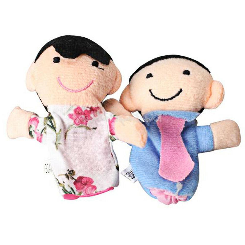 6pcs Baby Plush Cloth Play Story Family Finger