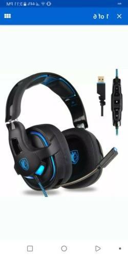 7 1 surround stereo sound usb headset