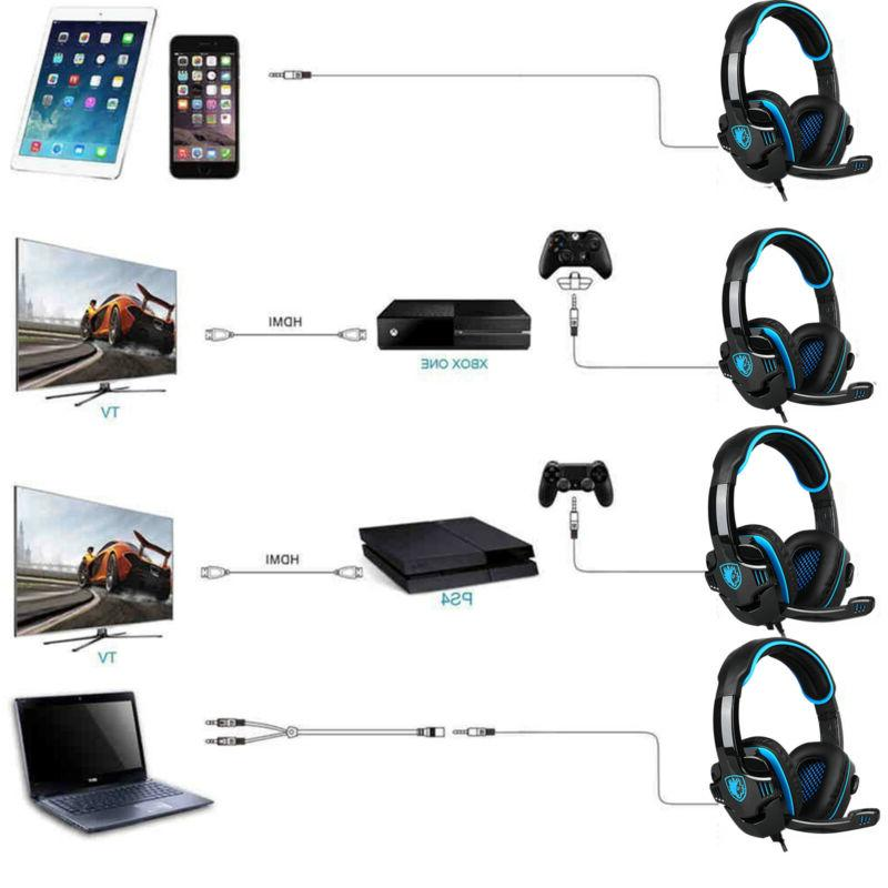 Sades 708GT Headset w/Mic for Xbox Blue