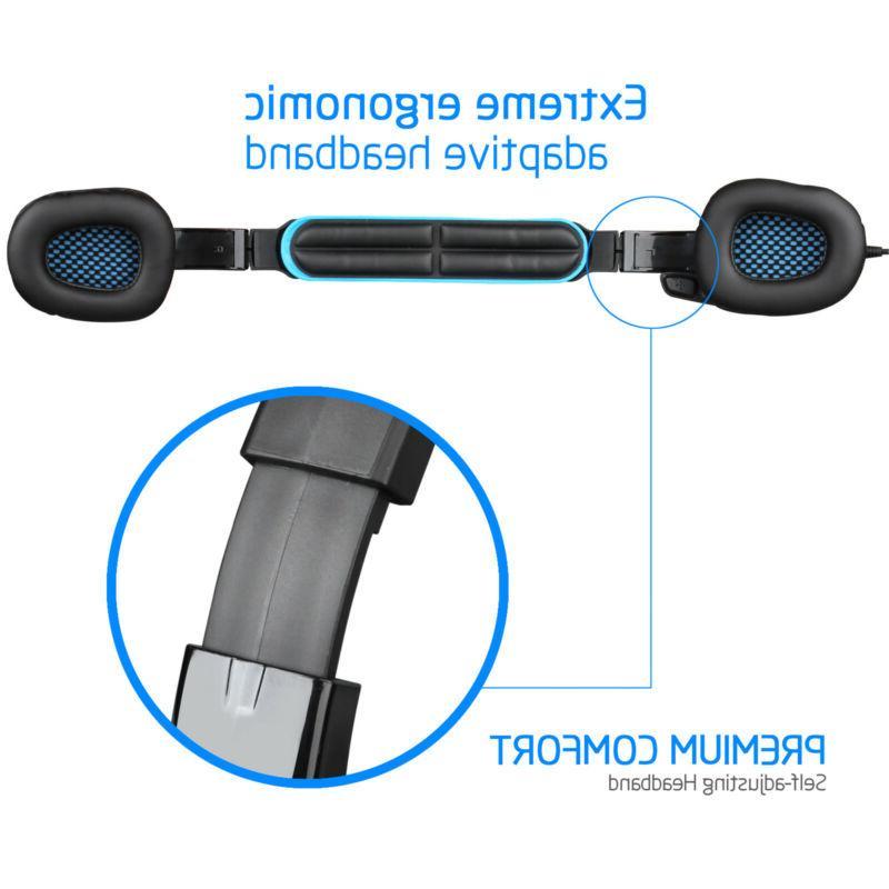 Sades Gaming Headset 3.5mm w/Mic PS4 Blue