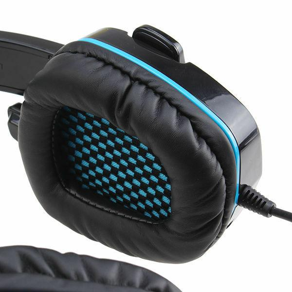 Sades 708GT Upgrade Gaming Headset w/Mic for Xbox PS4 Blue