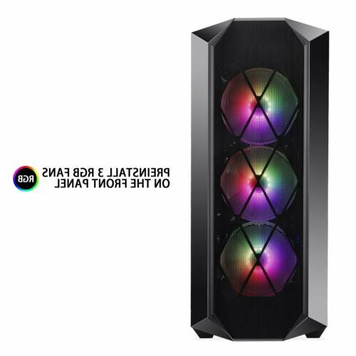 Segotep Argus K5 ATX Mid Tower Gaming PC Computer Case w/ 3p