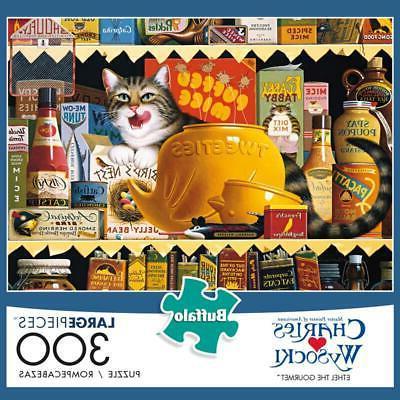 ethel the gourmet cat jigsaw puzzle