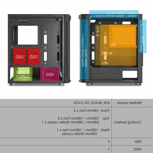 darkFlash DF140 E-ATX Full Gaming Computer Case RGB
