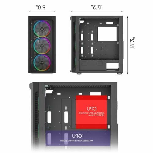 Full PC Computer Case RGB Fan