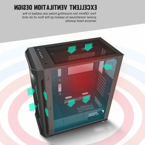 darkFlash Full Gaming PC Computer Case RGB Fan
