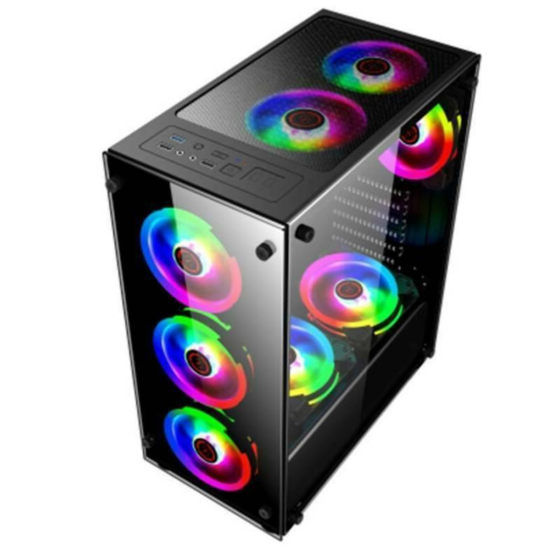 Gaming Computer Cover RGB Cooling For TAX/M-ATX/Mini