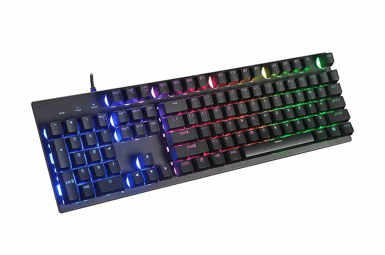 Gaming Keyboard Mechanical Feeling Backlit Illuminated PC Wi