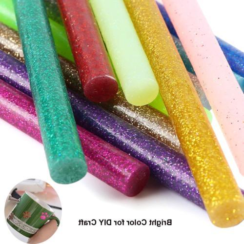 Glitter Glue Sticks Baffo 60PCS 12 Hot Glue EVA Mini Colored