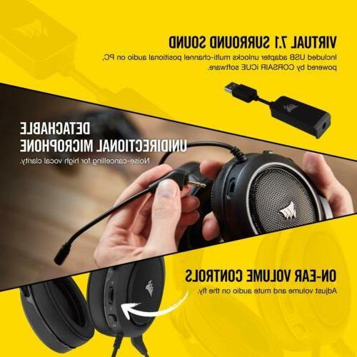 CORSAIR Virtual Surround Gaming w/USB DAC Headphones