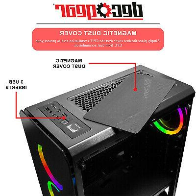 Deco Gear Mid-Tower Gaming Full Tempered Glass Lighting