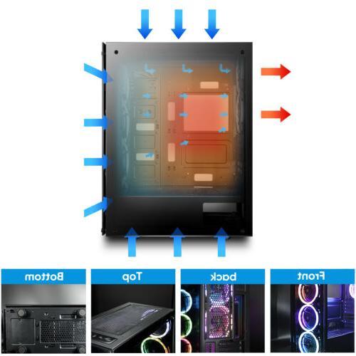 darkFlash Mini ATX Phantom Desktop Gaming PC
