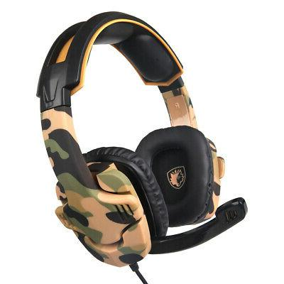 SADES Music Gaming Headset 3.5mm 3D Stereo Over Ear PC