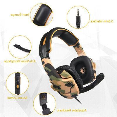 SADES Music Gaming Headset 3.5mm Over Ear Headband PC S4J5