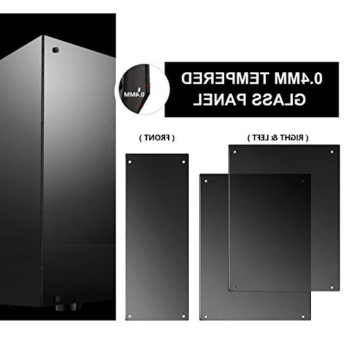 darkFlash Phantom Mid-Tower Desktop Computer Tempered Windows 6pcs LED DR12 RGB Fans Pre-Installed