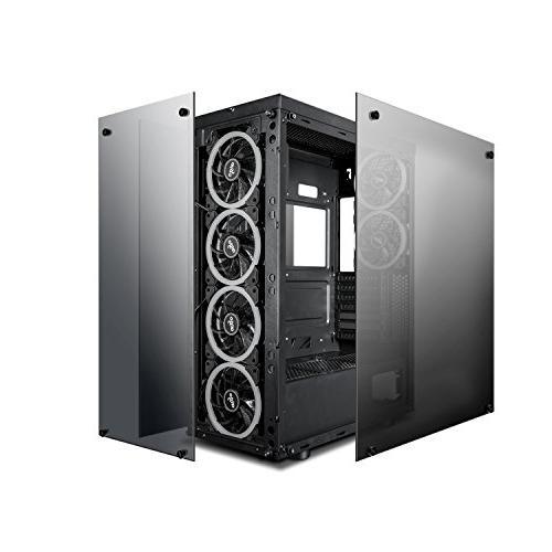 darkFlash Phantom ATX Mid-Tower Desktop Case USB Tempered Glass 6pcs DR12 RGB Fans Pre-Installed