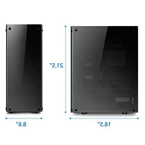 darkFlash Phantom Mid-Tower Computer Case Tempered 6pcs LED DR12 RGB Fans