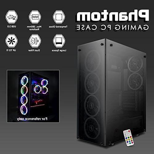 darkFlash Mid-Tower Computer Gaming Tempered Windows 6pcs RGB