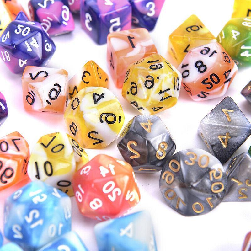 Polyhedral Color 7pcs/Set For Board D4,D6,D8,D10,D%,D12,D20