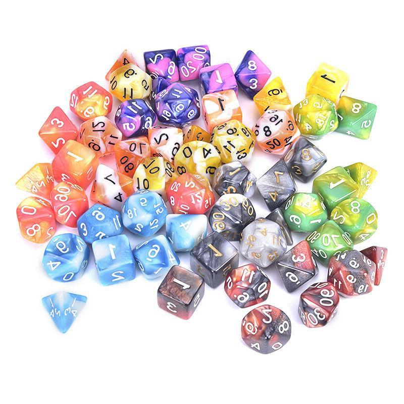 Polyhedral Color D4,D6,D8,D10,D%,D12,D20