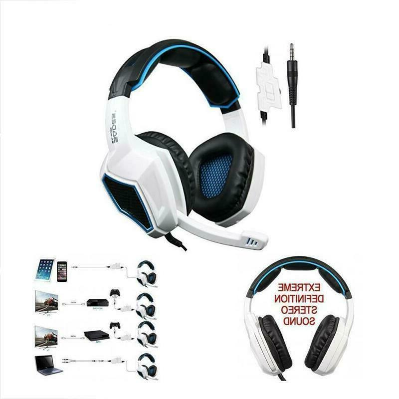 Sades Stereo Headset Headphone for PS4 New Xbox laptop w/mic