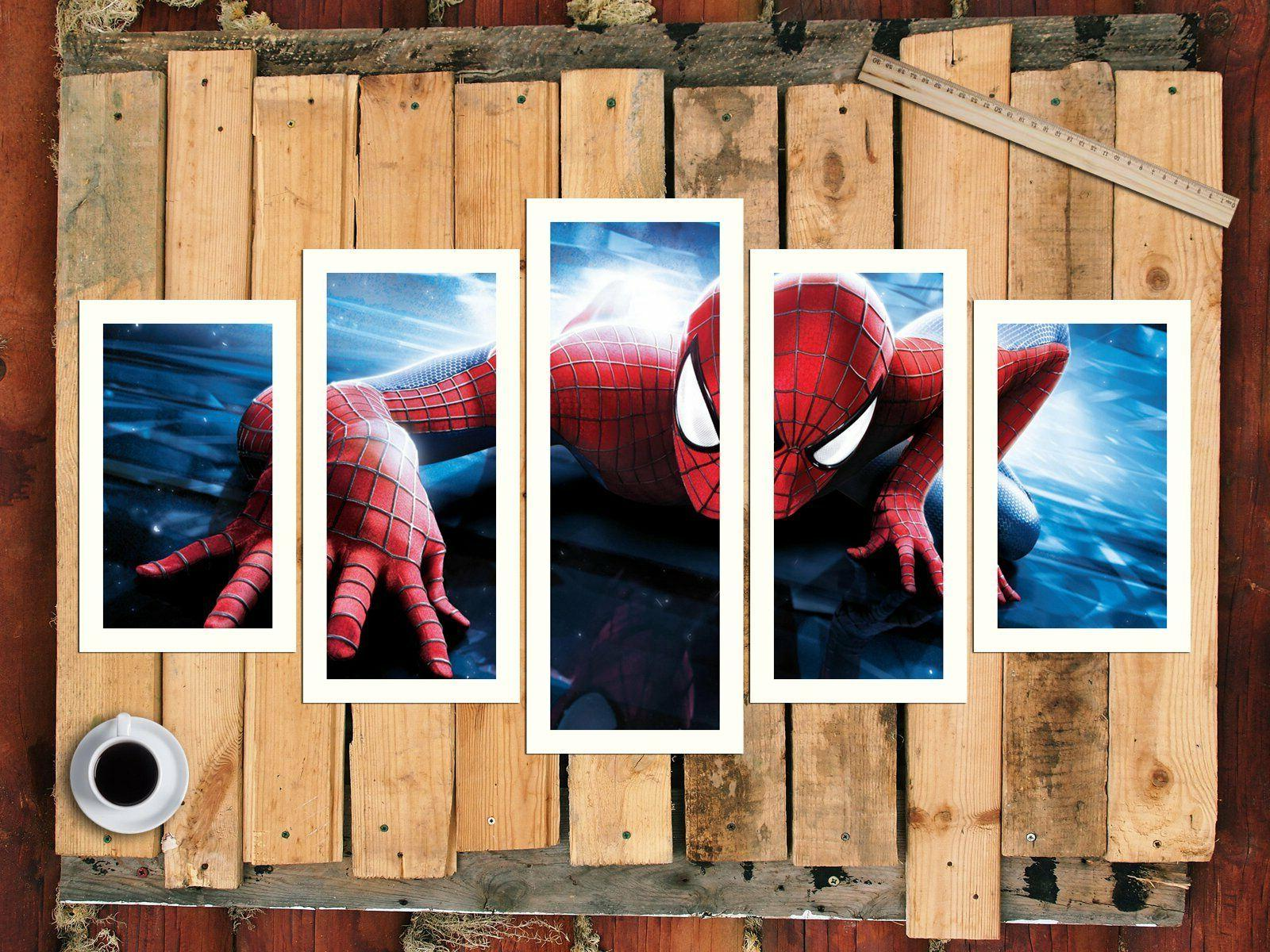 Spiderman marvel Game 5PCS Print Home Decor Painting
