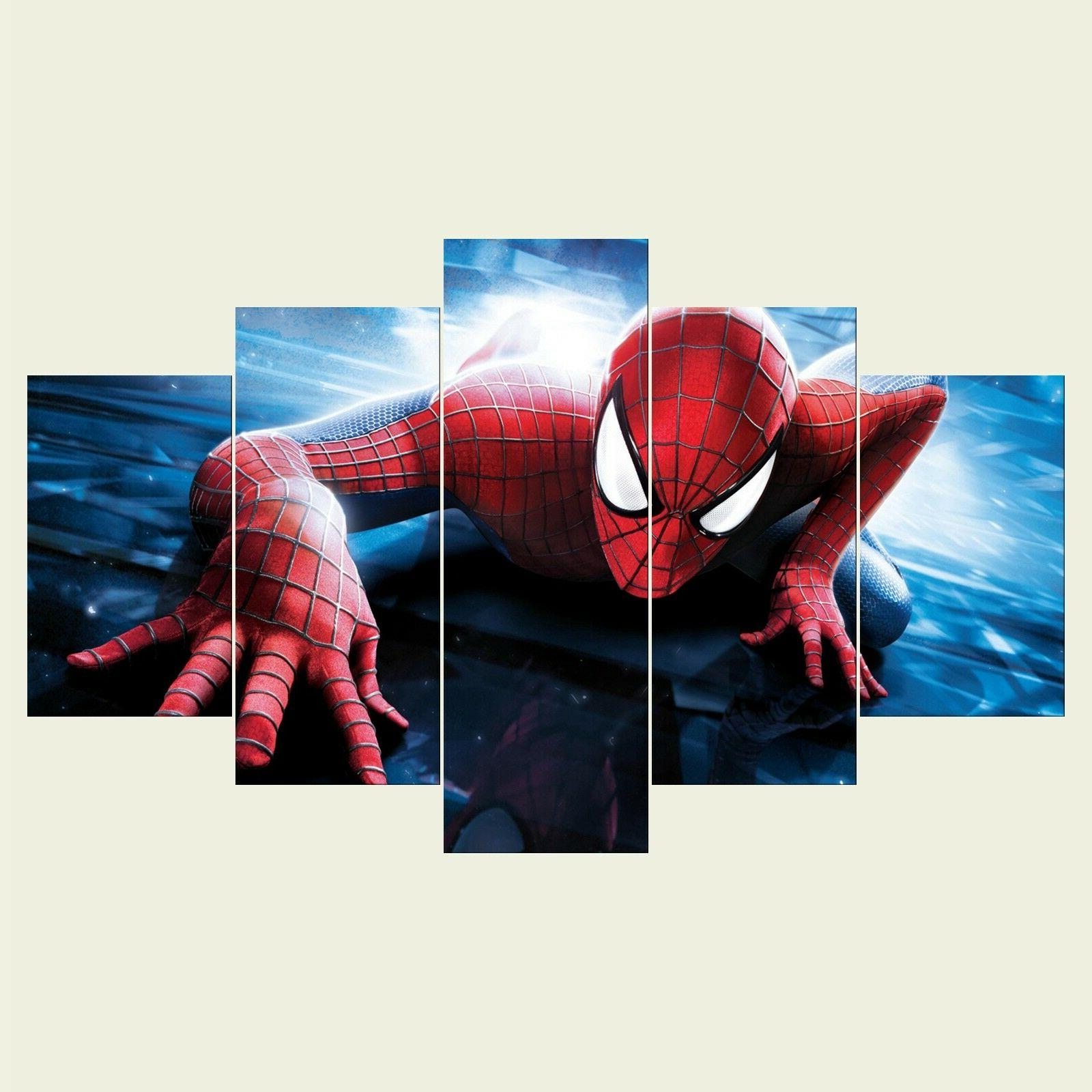 Spiderman 3 5PCS HD Canvas Print Home Picture Painting
