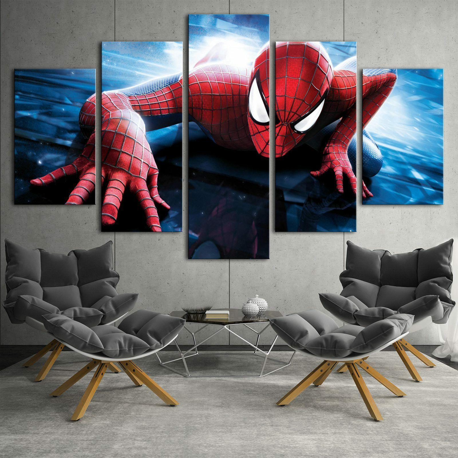 spiderman marvel 3 game 5pcs hd canvas