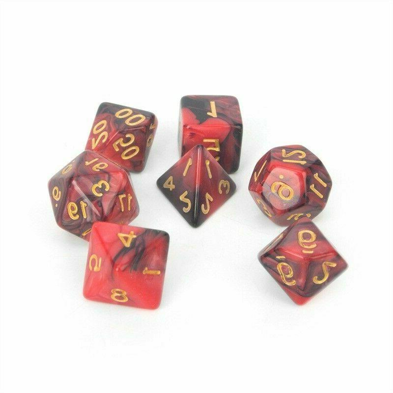 USA Colors 42pcs Polyhedral DND Game