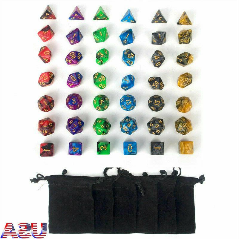 USA Polyhedral Set for DND Game Dungeons +