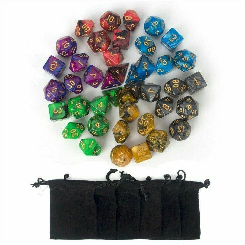 USA Colors Polyhedral Dice DND Dungeons Games