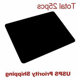 lot 25pcs Black Gaming Mouse Pad Large Size Desk Keyboard Ma