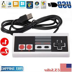 NEW Classic Wired USB Controller Nintendo NES Game Gamepad f