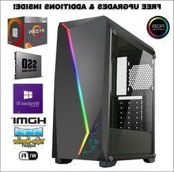 New Gaming Computer PC Desktop AMD Ryzen 3 2200G: 16GB RAM: