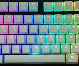 New Pudding Keycaps White Double Shot Translucent PBT ANSI+I