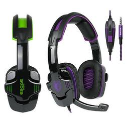 SADES Noise Cancellation Stereo Music Game Headphones Mic Fo