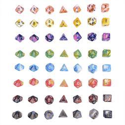 polyhedral mixed color dice 7pcs set