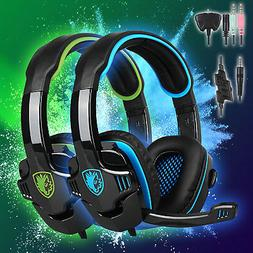 Sades SA-708GT 3.5mm Stereo Wired Gaming Headsets  Headphone