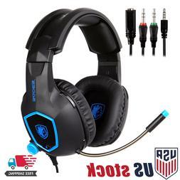 SADES SA818 Stereo Gaming Headsets Headphones for PS4 New Xb