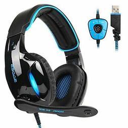 SADES SA902 7.1 USB Surround Sound PC Headsets Over-Ear Gami