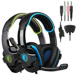 708gt gaming headset headphone with microphone